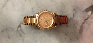 Used Rose gold Armani exchange watch  in Dubai, UAE