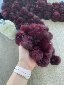 Used Faux fur scarf with pompoms in Dubai, UAE
