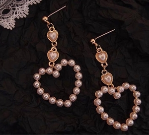 Used 925 Silver peach heart pearl in Dubai, UAE