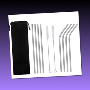 Used 22pcs of Stainless Steel Reusable Straws in Dubai, UAE