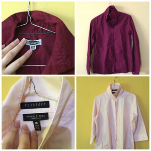 Used 2 Button Up Shirts ~ SIZE: XS-S in Dubai, UAE