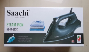 Used Brand New Saachi Steam Iron 2200W (BLACK in Dubai, UAE
