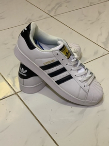 Used Adidas superstar white/black size 45 in Dubai, UAE
