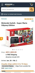 Used mario odyssey nintendo bundle in Dubai, UAE