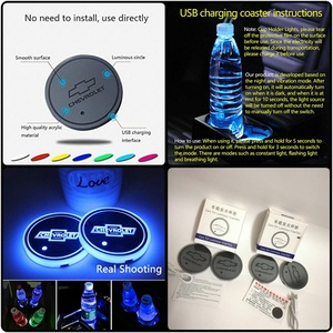 Used New 4pcs LED Car Logo Cup Holder Lights in Dubai, UAE