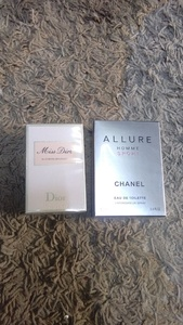 Used Chanel Allure & Miss Dior 2pcs set new in Dubai, UAE
