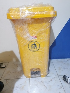 Used garbage bin with pedal 120ltr yellow in Dubai, UAE