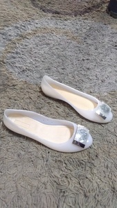 Used Versace jelly shoes size 40 new in Dubai, UAE