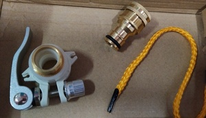 Used Brass hose connectors set 3 in 1 in Dubai, UAE