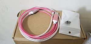 Used LED magnetic flow data cable blue iphone in Dubai, UAE