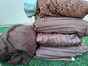 Used Large size Curtain 4 piece in Dubai, UAE