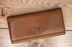 Used Prada Brown Long Wallet in Dubai, UAE