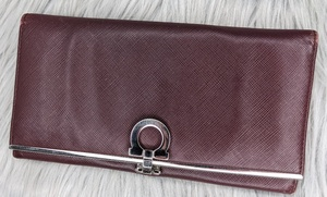 Used Authentic Ferragamo Maroon Long Wallets in Dubai, UAE