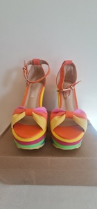 Used Women Rainbow Colorful Wedge Sandal in Dubai, UAE