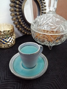 Used Turkish cup and saucer for coffee or tea in Dubai, UAE