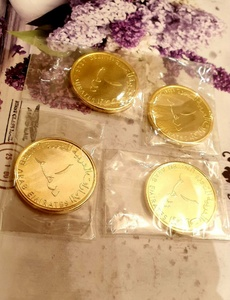 Used 4 gold plated coins in Dubai, UAE