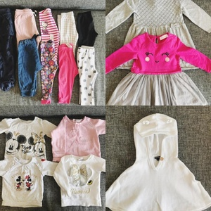 Used Baby girl clothes 6-24mo 35 pcs in Dubai, UAE
