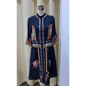 Used embroidery cotton top/dress (S) new in Dubai, UAE