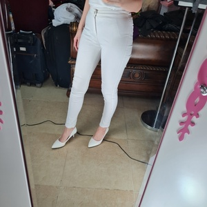 Used MISS POEM white trousers in Dubai, UAE