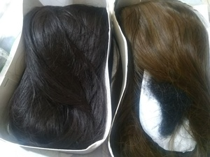 Used Full lace Glueless Straight hair 2 pcs in Dubai, UAE