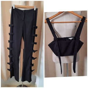 Used DAILY PAPER buckle pants & top (new) in Dubai, UAE