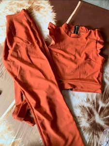 Used Two pieces orange pants set in Dubai, UAE