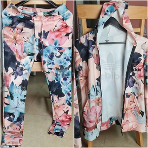 Used Adidas medium floral pants set in Dubai, UAE