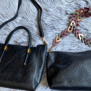 Used 2 in 1 classic leather bag with clutch in Dubai, UAE
