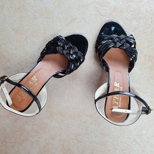 Used ATHAR black sandals eur 37 in Dubai, UAE