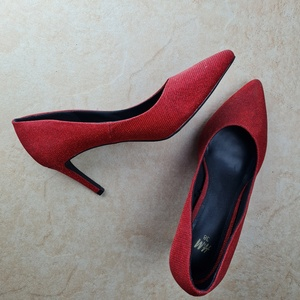 Used H&M shinny red high heels eur 38 in Dubai, UAE