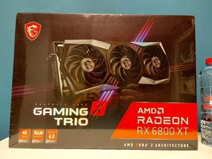 Used msi rx 6800 xt gaming x trio (new) in Dubai, UAE