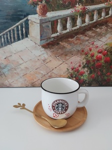 Used Mug with spoon and coaster in Dubai, UAE