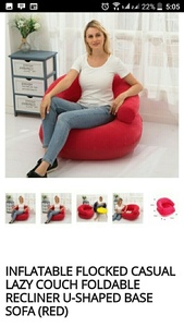 Used Inflatable sofa red color Brand new in Dubai, UAE