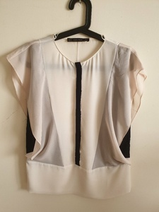 Used ZARA Pink Top with Black Detail in Dubai, UAE