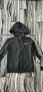 Used Adidas 3 stripe hoodie medium for women in Dubai, UAE