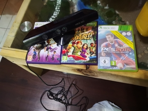 Used Xbox 360 kinect with 3 games in Dubai, UAE