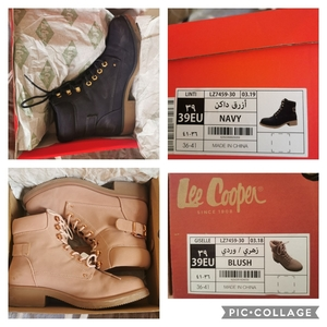 Used 2 pcs Lee Cooper Lace-Up Outdoor Boots in Dubai, UAE