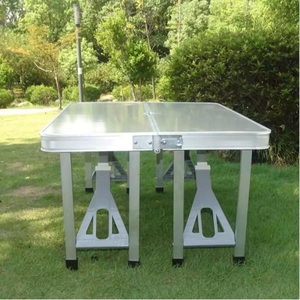 Used Portable Folding Table with Chair in Dubai, UAE