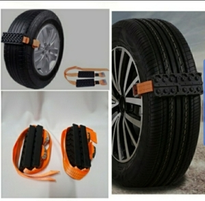 Used Car tires block traction safety strap in Dubai, UAE
