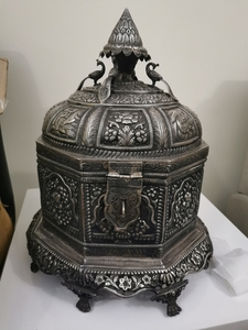 Used Real silver carved chest/box in Dubai, UAE