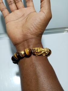 Used Tiger eye stone men's bracelet in Dubai, UAE
