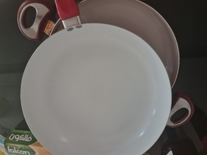 Used 2 big size ceramic coated non stick pans in Dubai, UAE