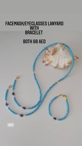 Used Facemask lanyard and bracelet in Dubai, UAE