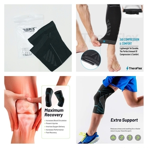 Used Knee & Compression Sleeves Unisex 2 Pcs in Dubai, UAE