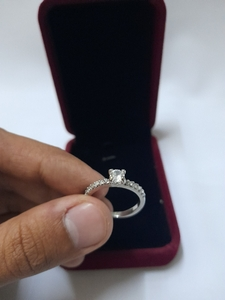 Used Silver Ring with Box (New) in Dubai, UAE