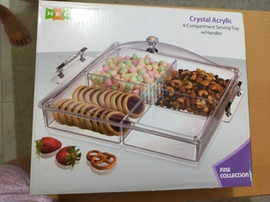 Used Crystal Acrylyc Compartment w/ handle in Dubai, UAE