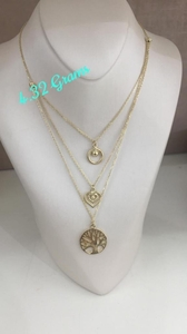 Used 18k pure gold necklace in Dubai, UAE