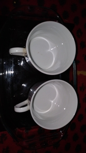 Used Two cup with tray in Dubai, UAE