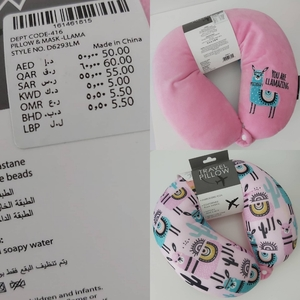 Used Neck pillow new pink in Dubai, UAE