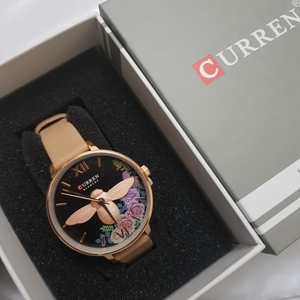 Used Curren beige womens watch with box in Dubai, UAE